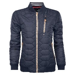 W Quilted Bomber Jacket XS Dk Navy Blue