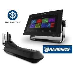"RAYMARINE Axiom 7 RV, 7"" MFD m. integreret RealVision 3D, 600W ekkolod med RV-100 transducer Navionics+ Small Download kort."